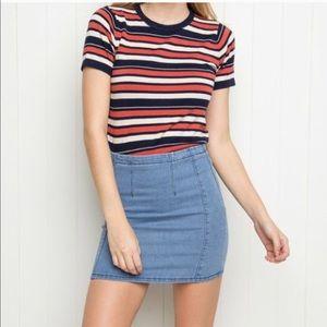 Brandy Melville • Denim Raquel Mini Skirt • NWOT